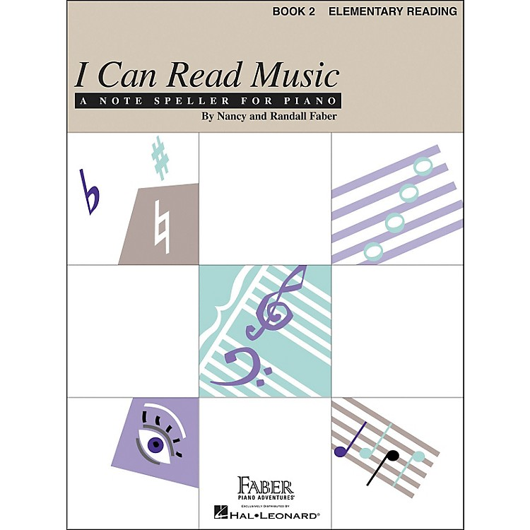 Faber Piano Adventures I Can Read Music Book 2 Elementary Reading Notespeller for Piano - Faber Piano