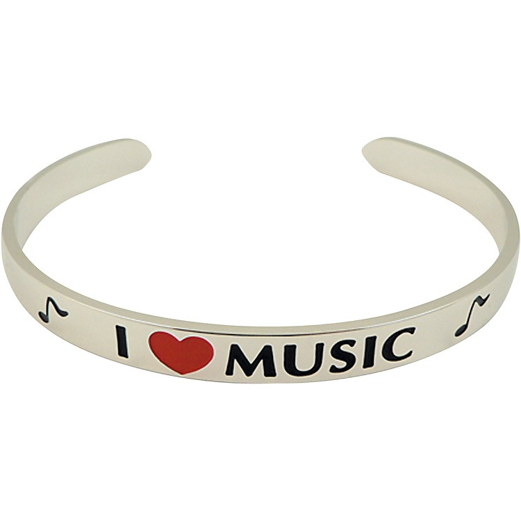AIM I Love Music Cuff Bracelet
