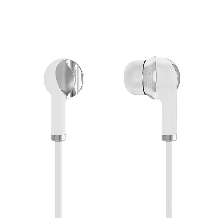 Koss IL100 Noise-Isolating In-Ear Stereophones (White/Silver) White / Silver