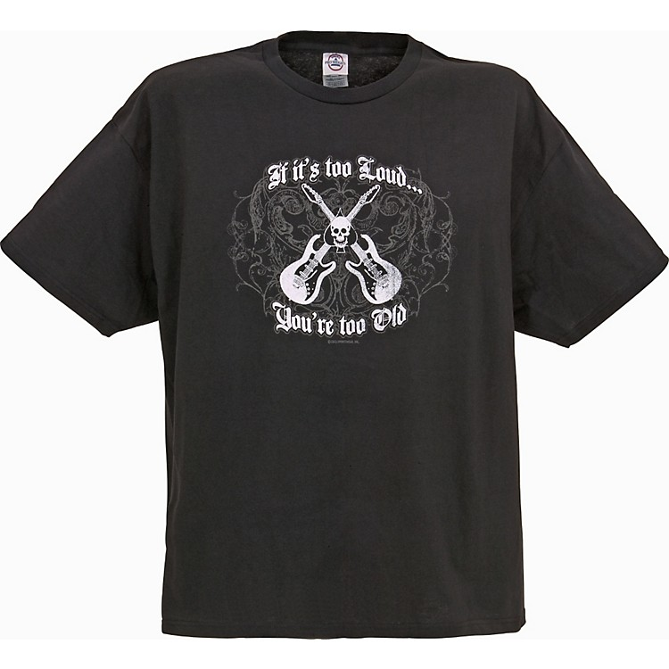 Gear One If It's Too Loud Guitar T-Shirt Black Large