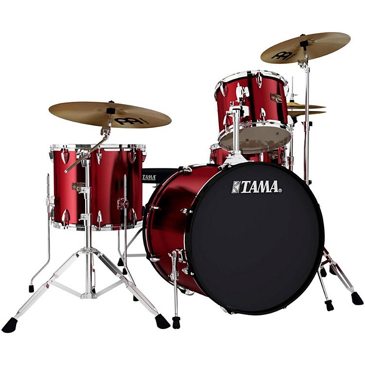 TamaImperialstar 4-Piece Drum Kit with CymbalsVintage Red