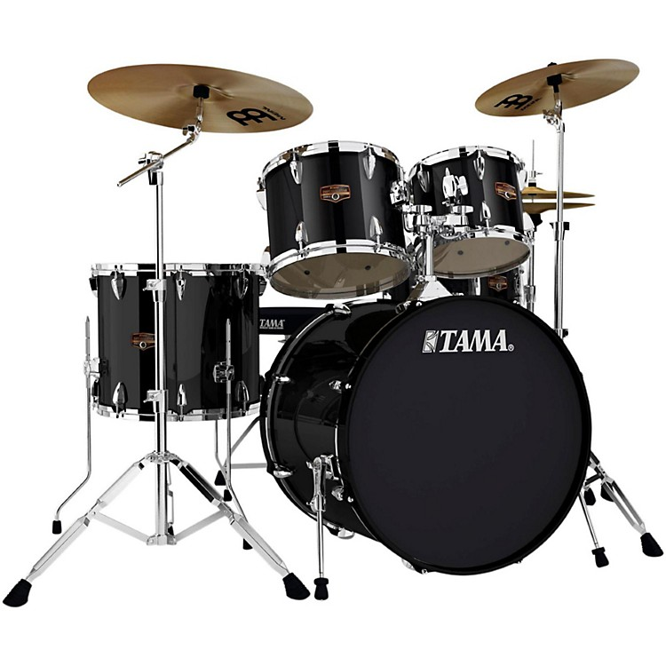Tama Imperialstar 5-Piece Drum Set with Cymbals Black