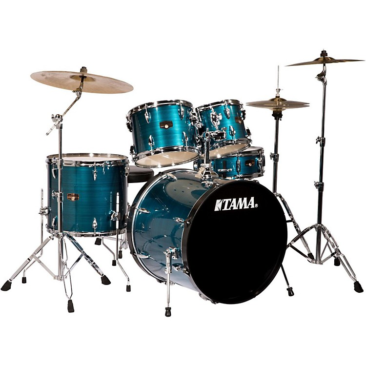 Tama Imperialstar 5-Piece Drum Set with Cymbals Hairline Blue