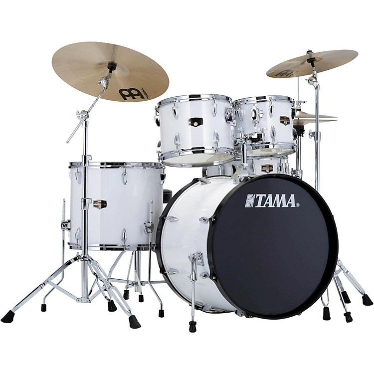 Tama Imperialstar 5-Piece Drum Set with Cymbals Sugar White