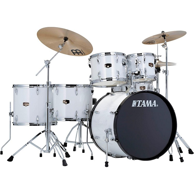 Tama Imperialstar 6-Piece Drum Set with Cymbals Sugar White