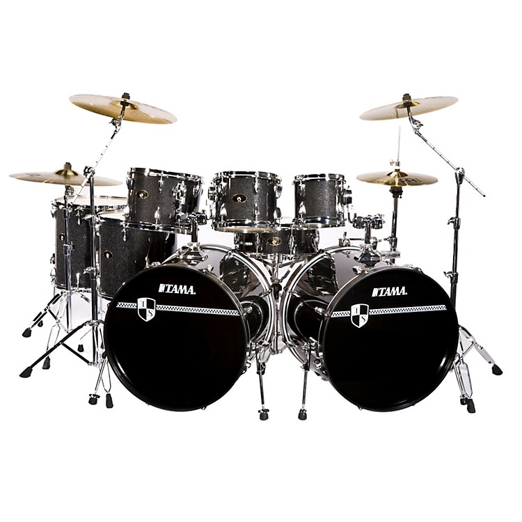 tama imperialstar 8 piece double bass drum set with cymbals music123. Black Bedroom Furniture Sets. Home Design Ideas