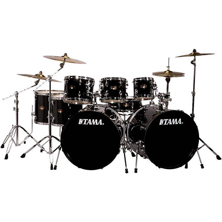 tama imperialstar 8 piece double bass drum set with meinl hcs cymbals music123. Black Bedroom Furniture Sets. Home Design Ideas