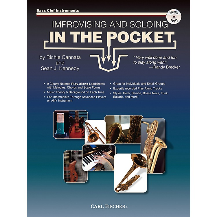 Carl FischerImprovising And Soloing In the Pocket (For Bass Clef Instruments) - Book/CD