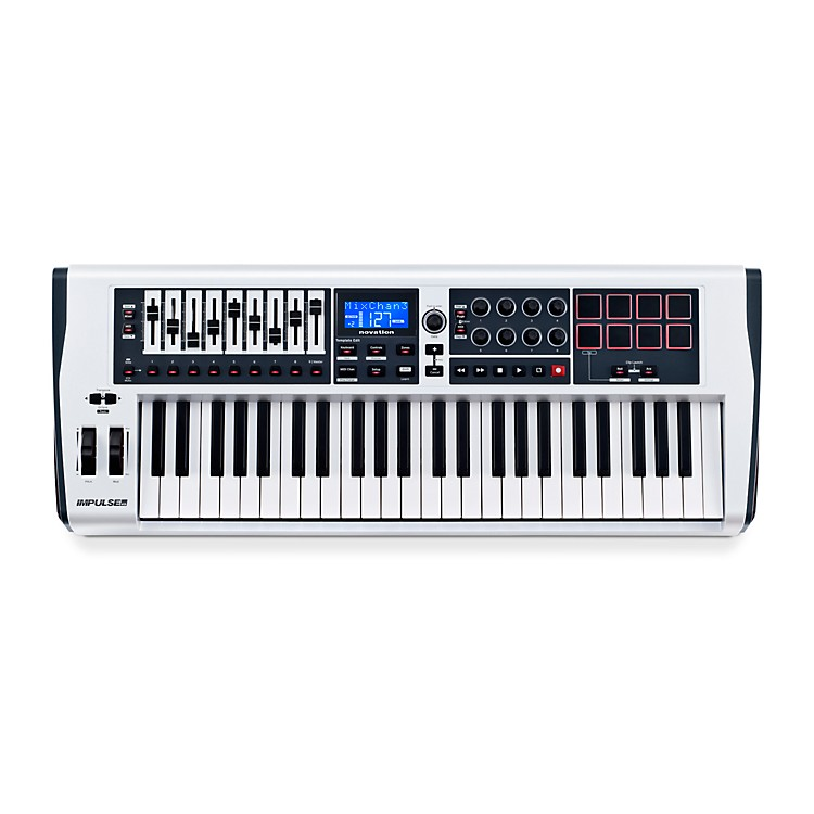 Novation Impulse 49 MIDI Controller - White White