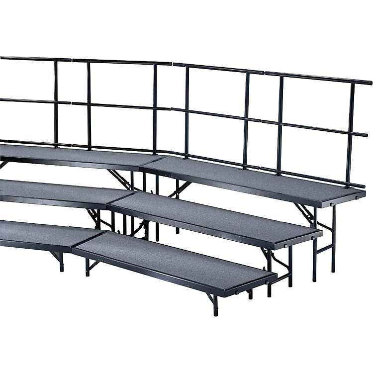 Midwest Folding Products Individual Tapered Standing Choral Risers 24