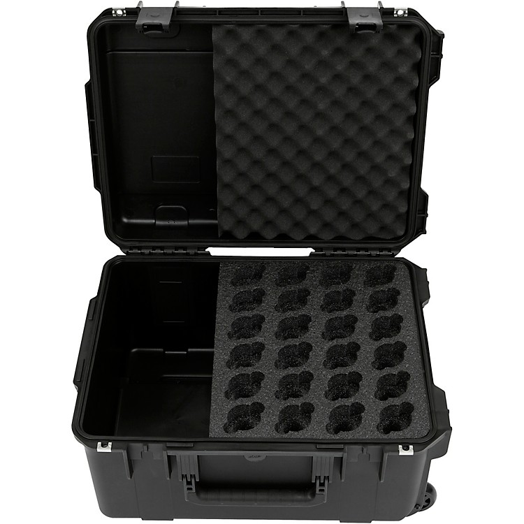 SKB Injection-Molded Microphone Case for 24 Mics