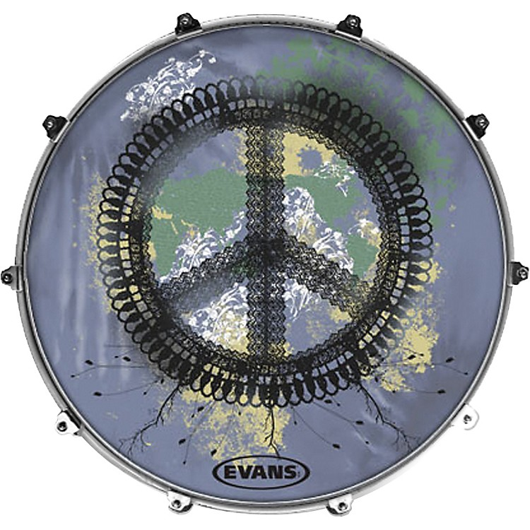 EvansInked by Evans Woodstock Series Kick Drumhead