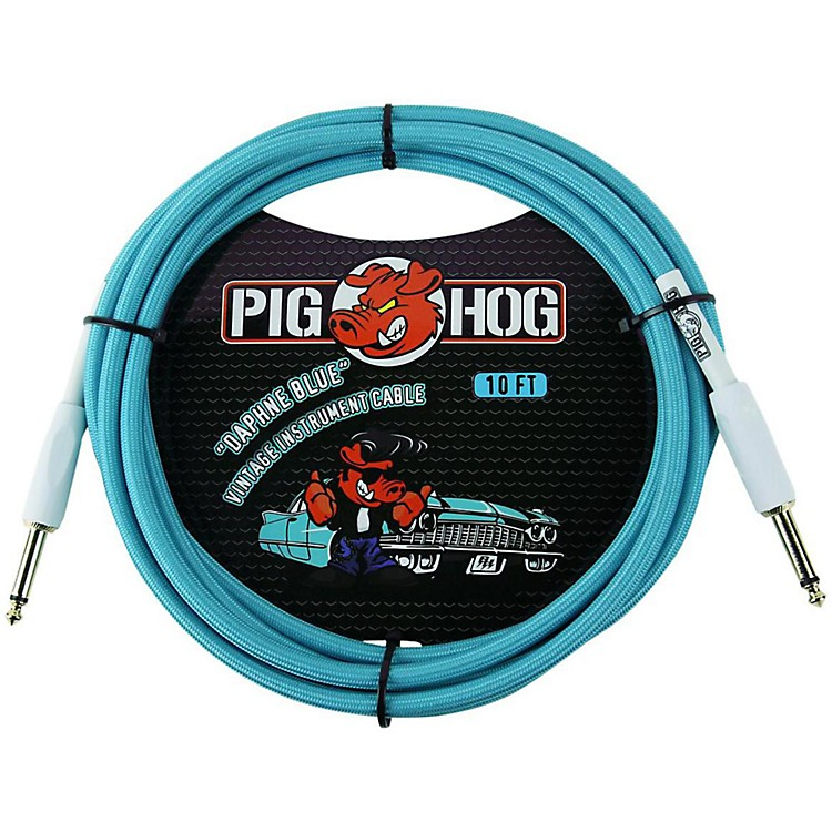 Pig Hog Instrument Cable 10 ft. Daphne Blue