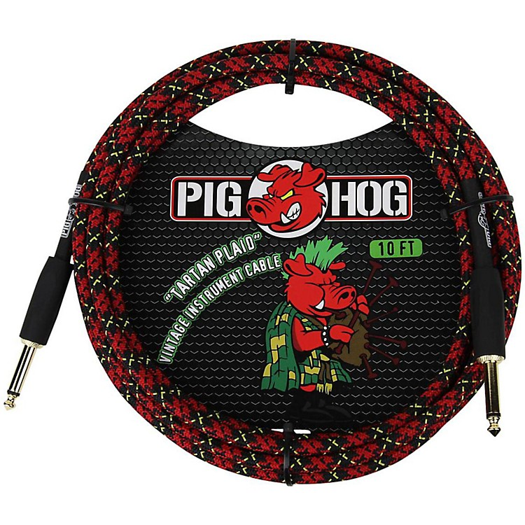Pig HogInstrument Cable10 ft.Tartan Plaid