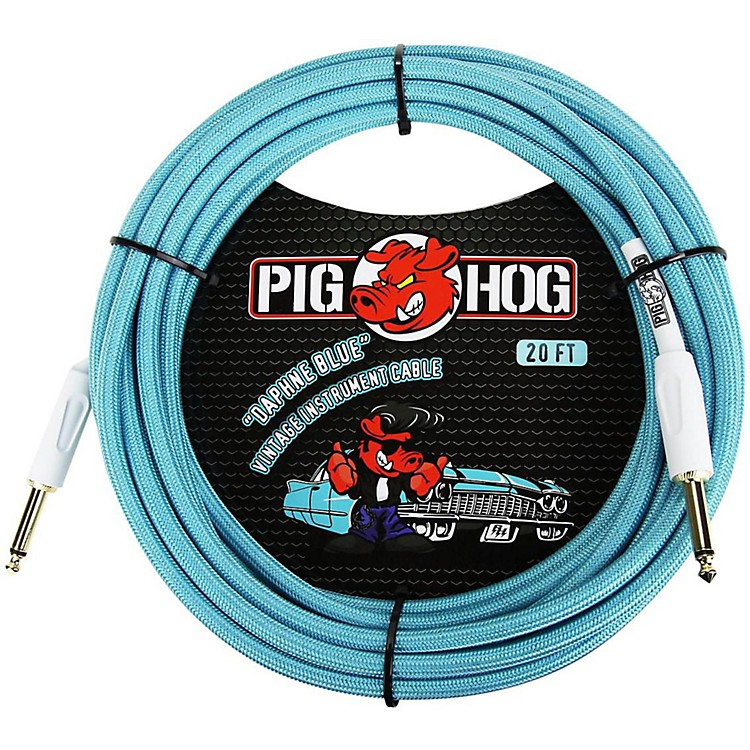 Pig Hog Instrument Cable 20 ft. Daphne Blue