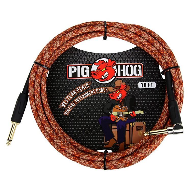 Pig HogInstrument Cable Western Plaid 1/4