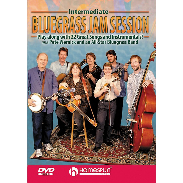 Homespun Intermediate Bluegrass Jam Session for Any Instrument Play Along (DVD)