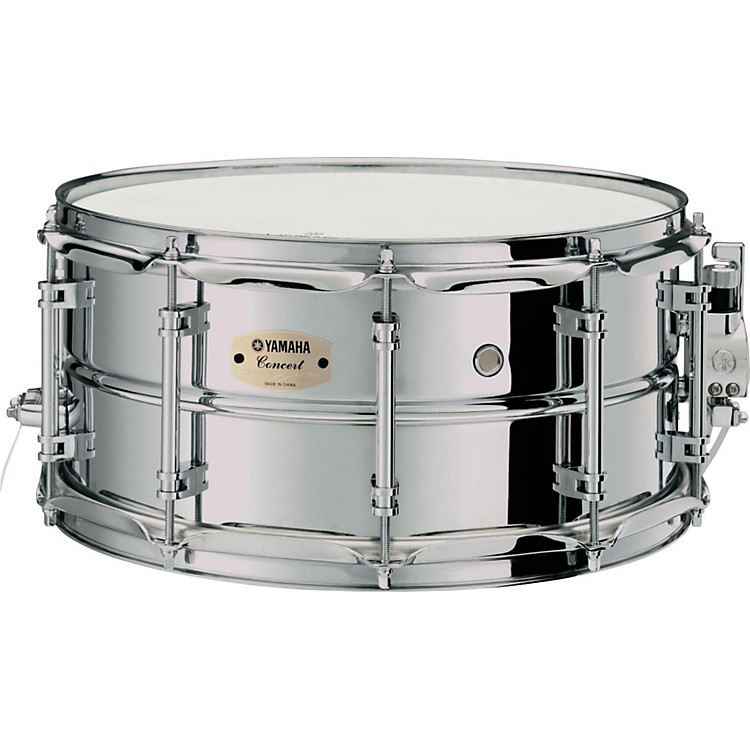 YamahaIntermediate Concert Snare Drum; 1.2mm Chrome-Plated Steel Shell14 x 6.5 in.