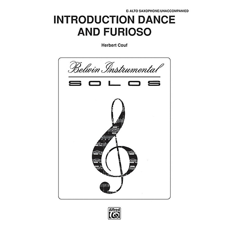 AlfredIntroduction, Dance and Furioso for Alto Sax By Couf Book