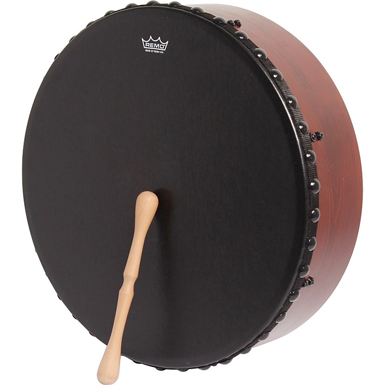 Remo Irish Bodhran Drum with Bahia Bass Head 16 x 4.5 in.