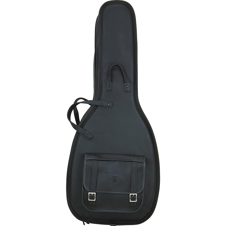 Levy's Italian Leather Acoustic Guitar Gig Bag Black