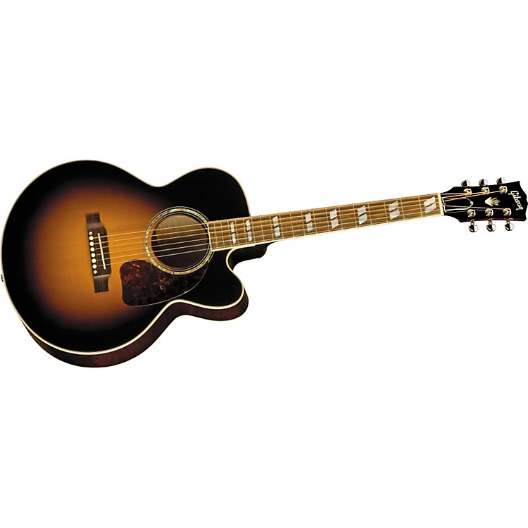 Gibson J-165 EC Maple Acoustic-Electric Guitar Vintage Sunburst