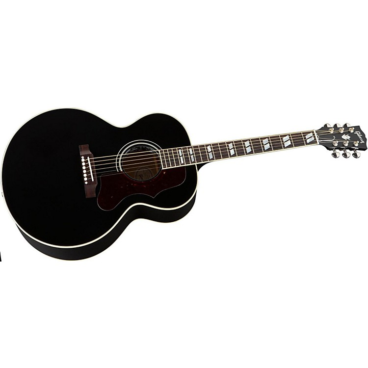 Gibson J-185 Acoustic-Electric Guitar Ebony