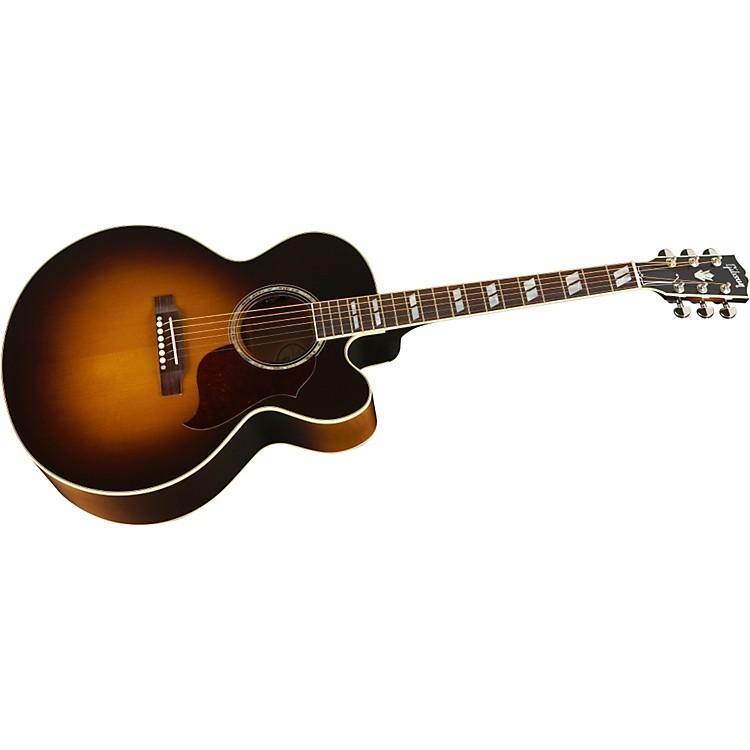GibsonJ-185 EC Acoustic-Electric GuitarVintage Sunburst