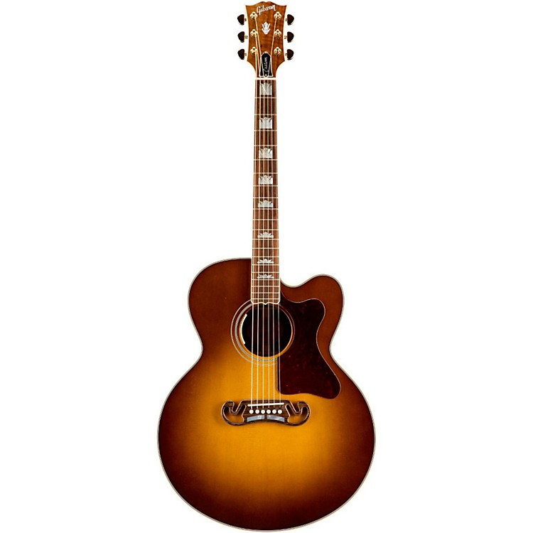 Gibson J-200 Claro Walnut Acoustic Guitar Honey Burst