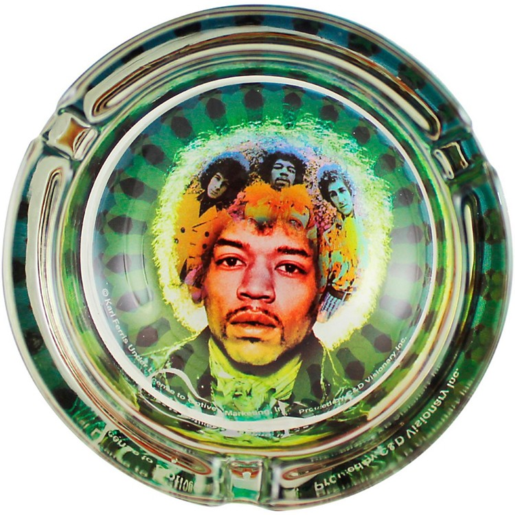 C&D VisionaryJ. Hendrix Face Glass Ashtray