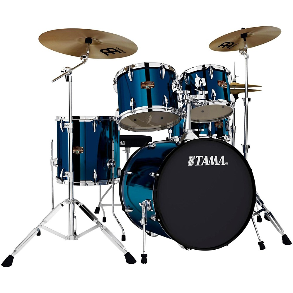 tama imperialstar 5 piece 20 bass drum set with cymbals midnight blue. Black Bedroom Furniture Sets. Home Design Ideas