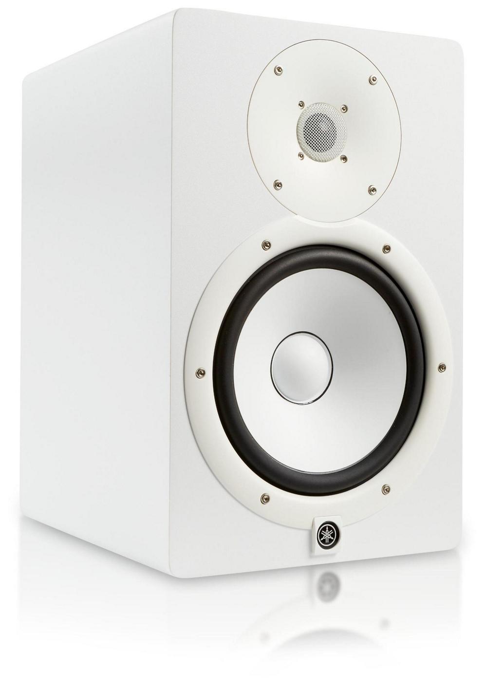 Yamaha hs8 w powered studio monitor white for Yamaha hs8 studio monitor speakers