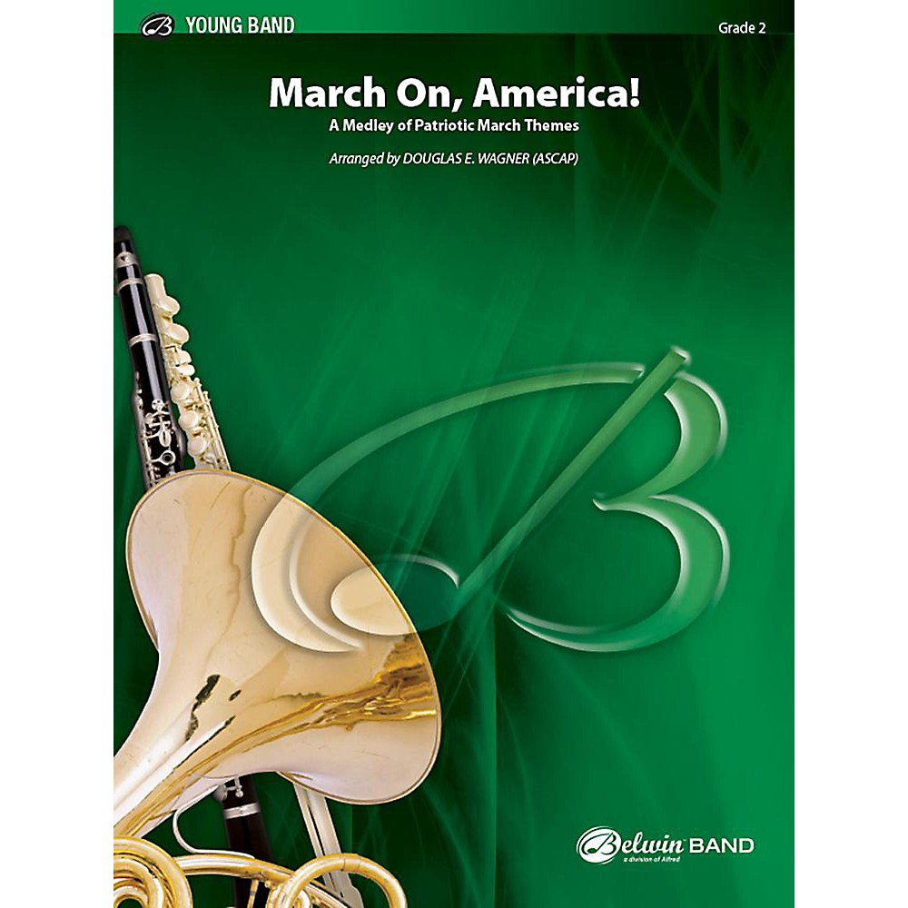 Alfred March On, America! Concert Band Grade 2 Set