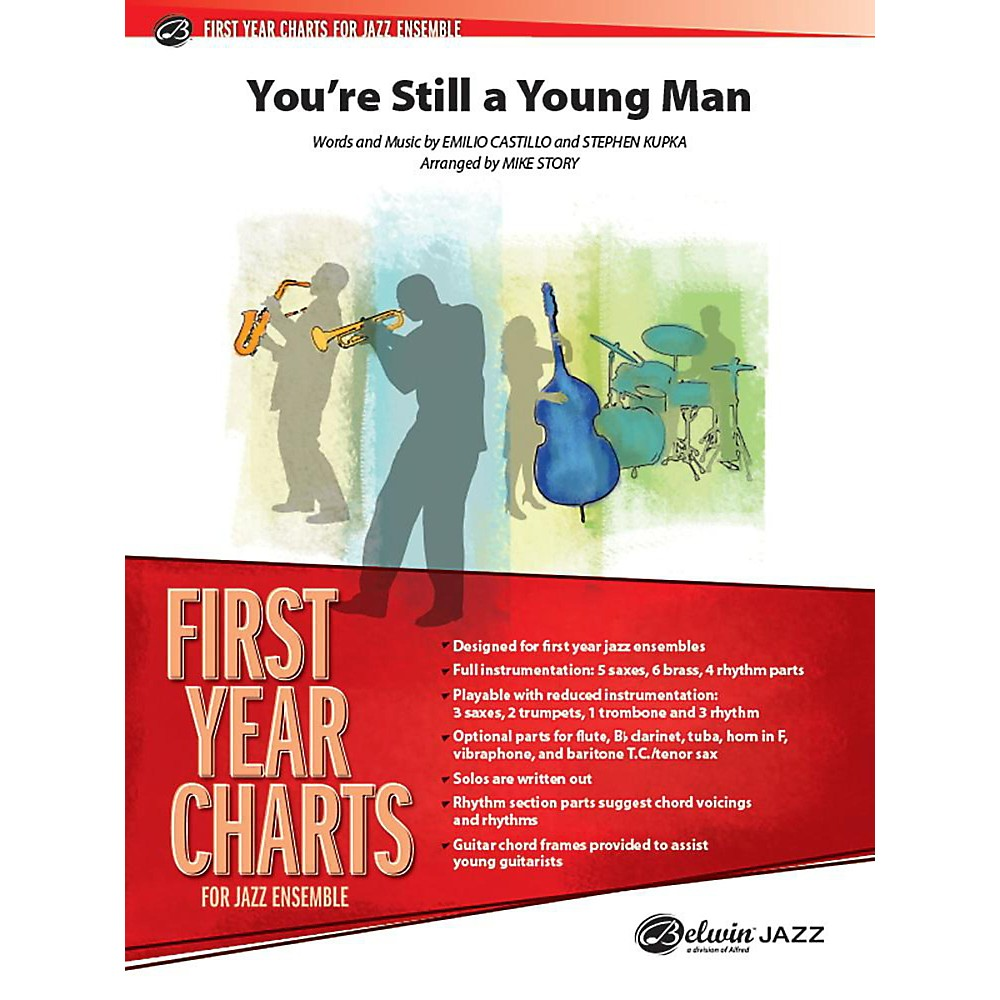 Alfred You`re Still a Young Man Jazz Band Grade 1 Set