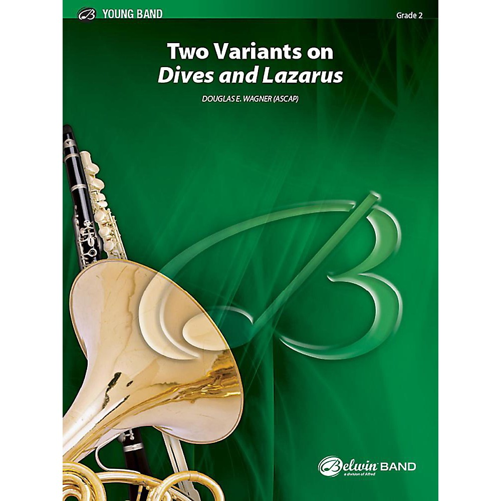 Alfred Two Variants on Dives and Lazarus Concert Band Grade 2 Set