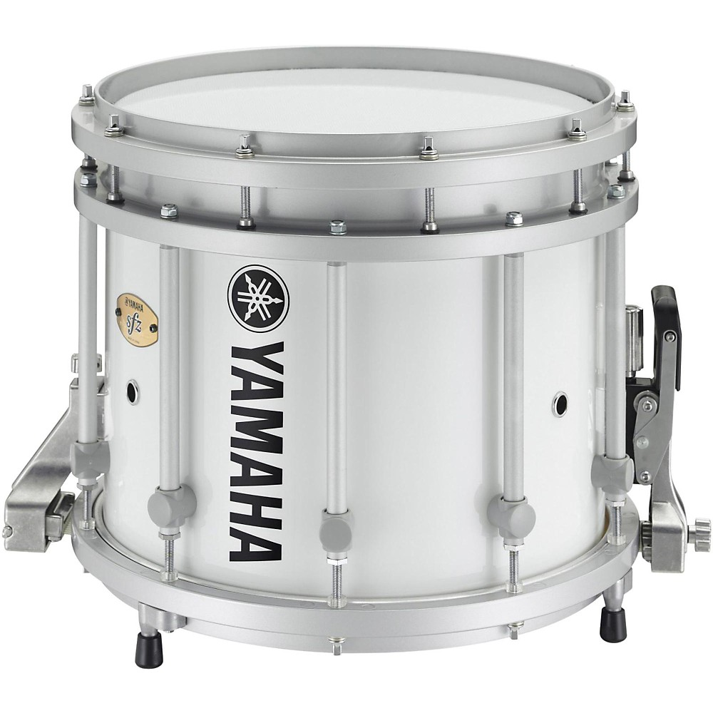 yamaha sfz marching snare drum 13x11 inch white forest with standard hardware ln ebay. Black Bedroom Furniture Sets. Home Design Ideas