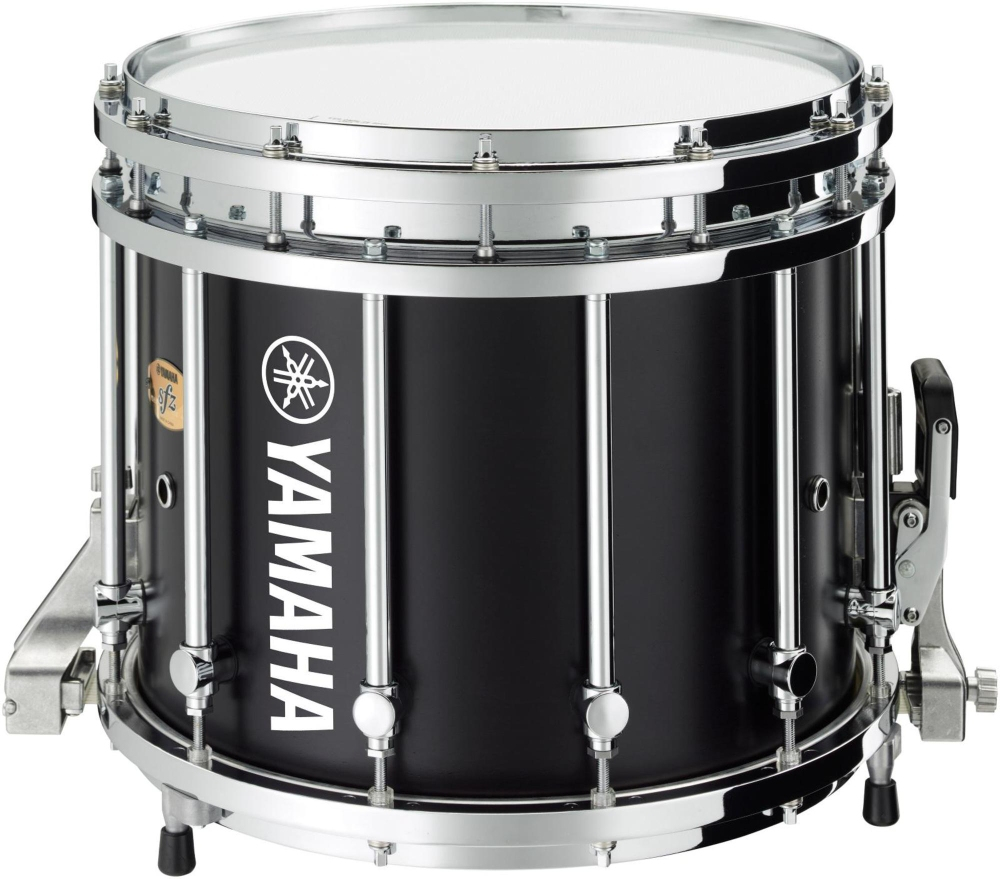 yamaha sfz marching snare drum 14x12 inch black forest with chrome hardware ebay. Black Bedroom Furniture Sets. Home Design Ideas