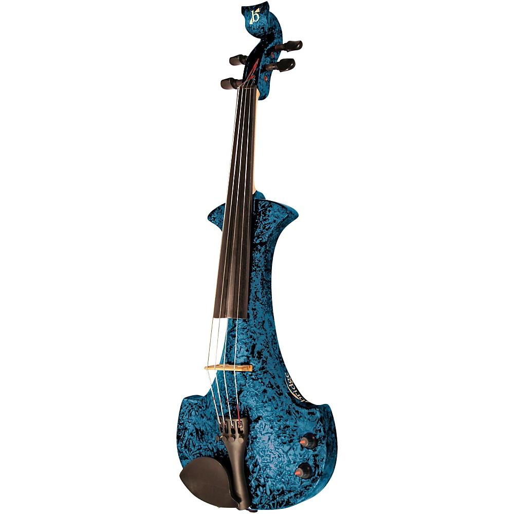 bridge aquila series 4 string electric violin blue marble ebay. Black Bedroom Furniture Sets. Home Design Ideas