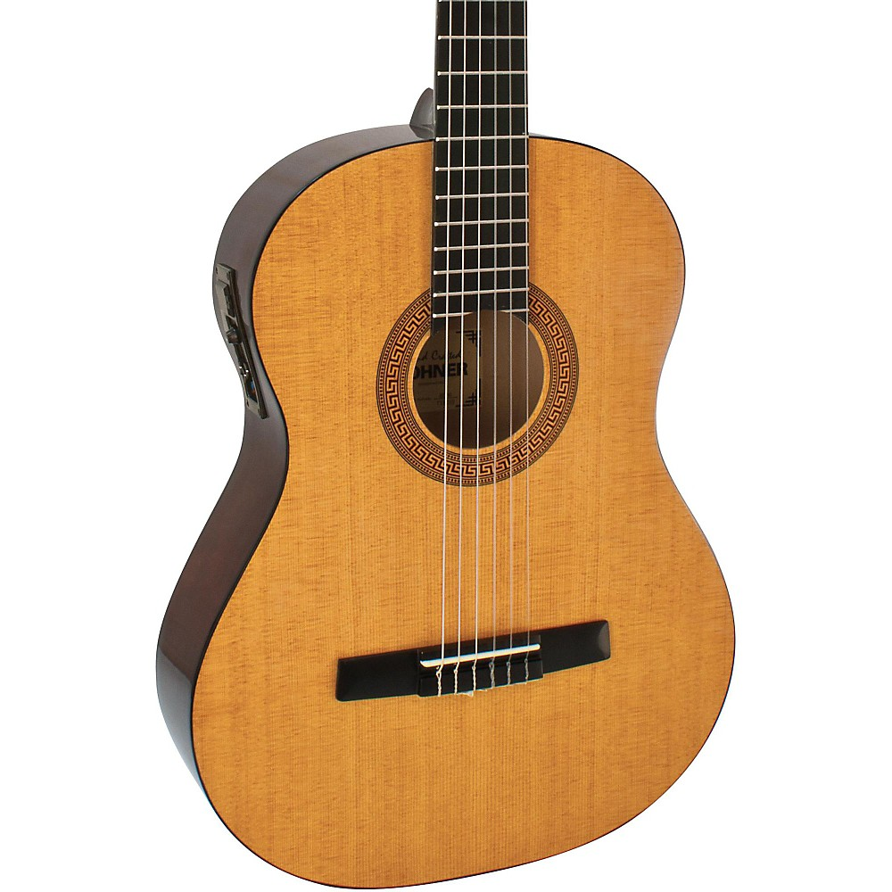 hohner hc06e classical nylon string acoustic electric guitar natural. Black Bedroom Furniture Sets. Home Design Ideas