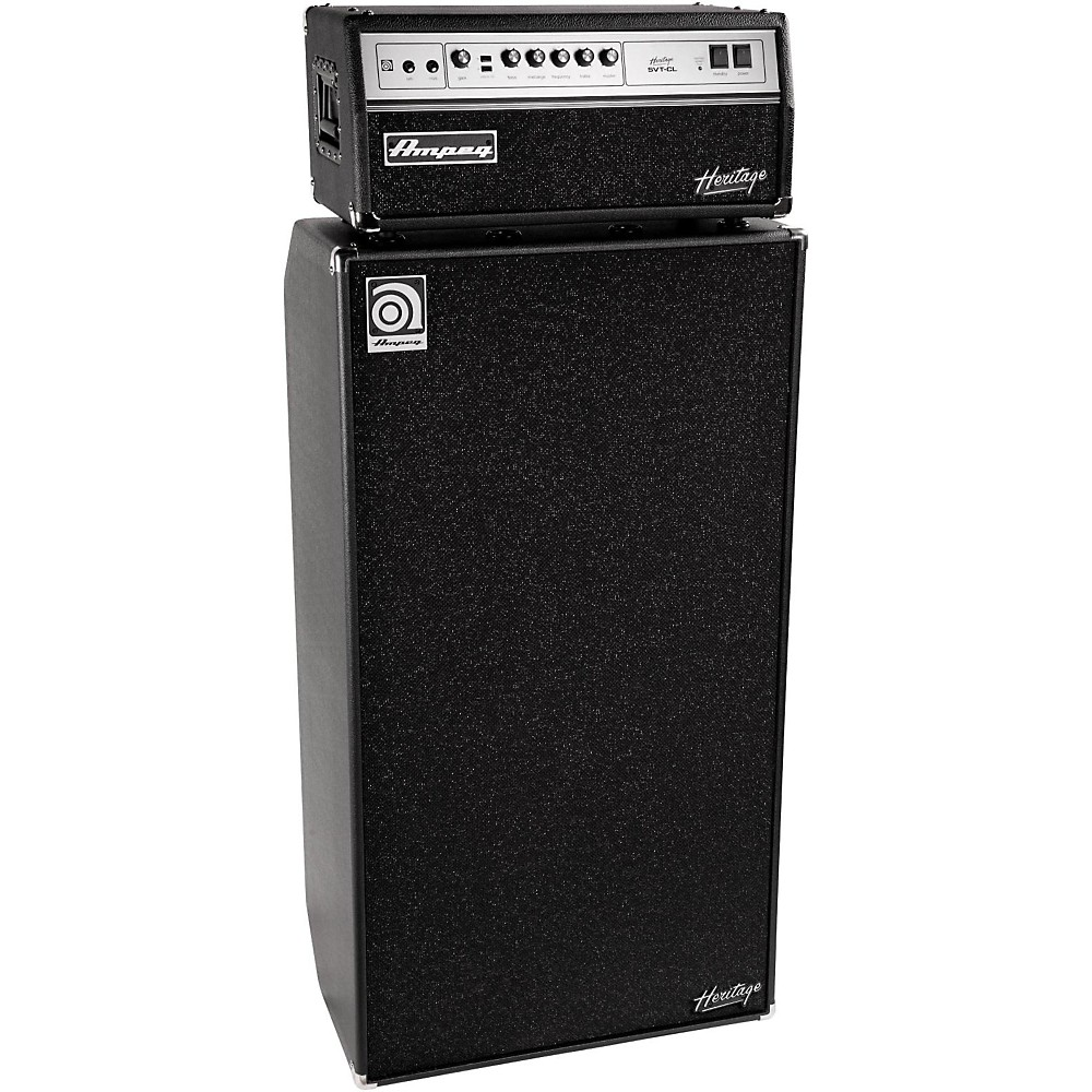 ampeg heritage svt cl 300w tube bass amp head with 8x10 800w bass speaker cab ebay. Black Bedroom Furniture Sets. Home Design Ideas