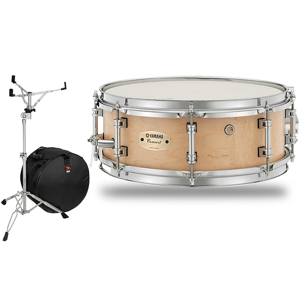 Yamaha Concert Series Maple Snare Drum With Stand And Free ...
