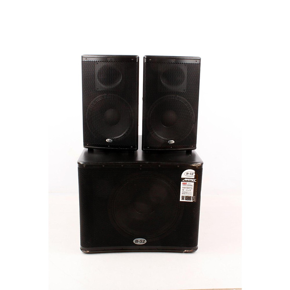 upc 888365353210 b 52 matrix 2500 3 piece active speaker system 888365353210. Black Bedroom Furniture Sets. Home Design Ideas