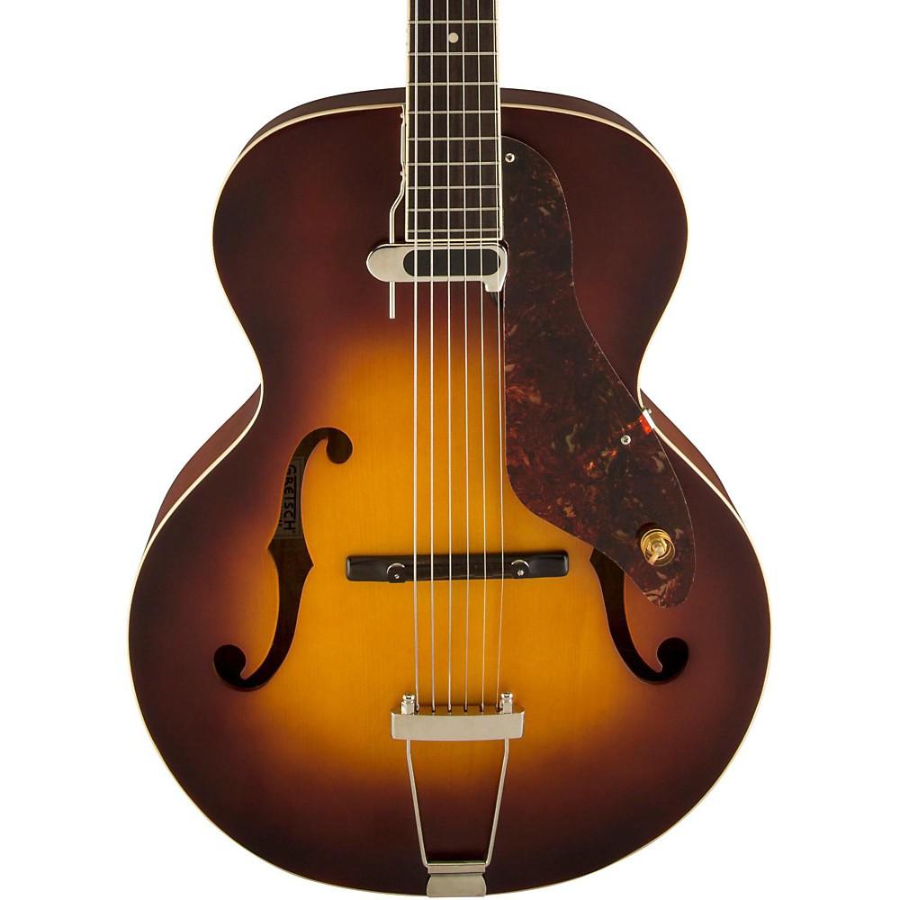 gretsch guitars 9555 new yorker archtop acoustic electric guitar sunburst ln ebay. Black Bedroom Furniture Sets. Home Design Ideas