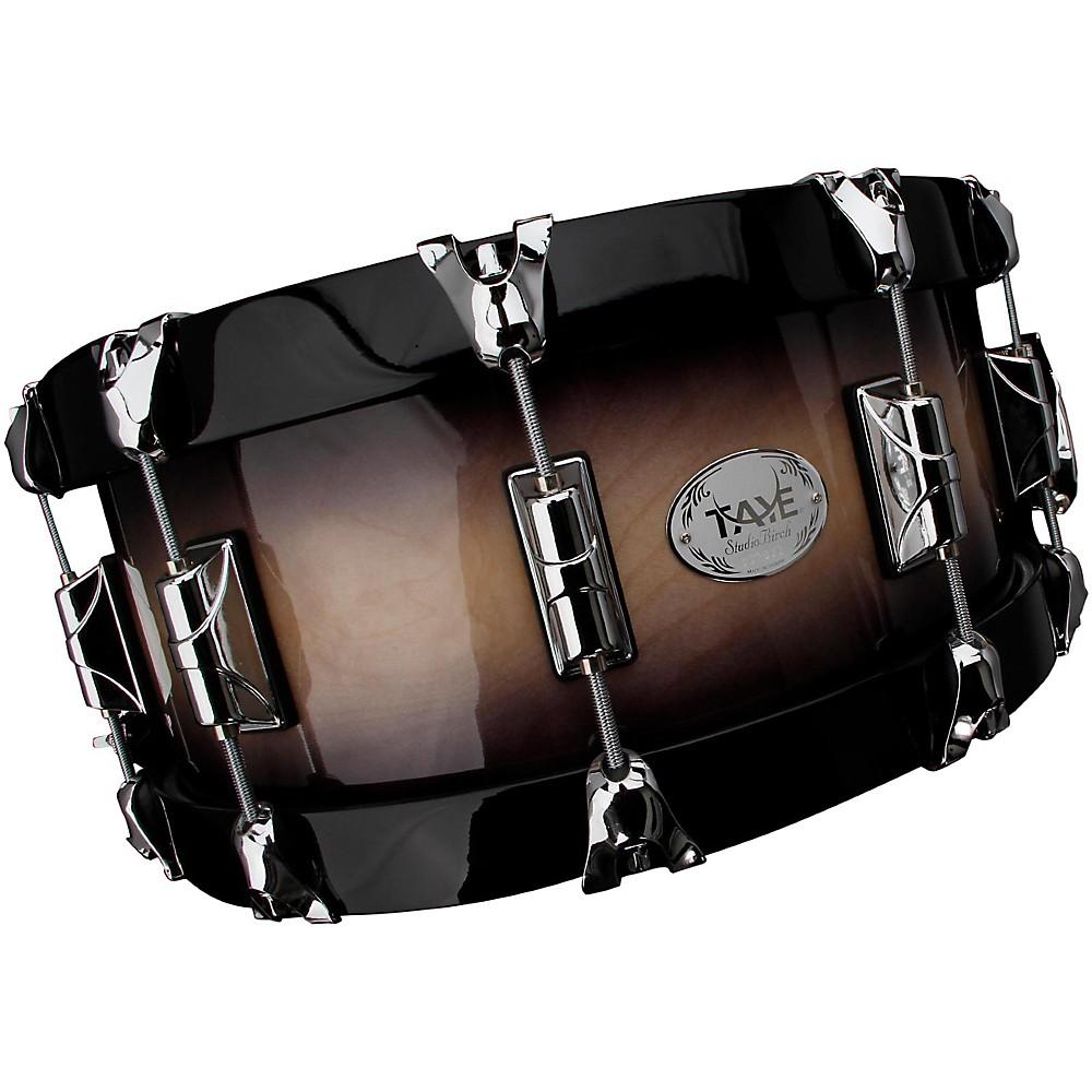 taye drums studiobirch wood hoop snare drum 14x6 natural to black burst finish ebay. Black Bedroom Furniture Sets. Home Design Ideas