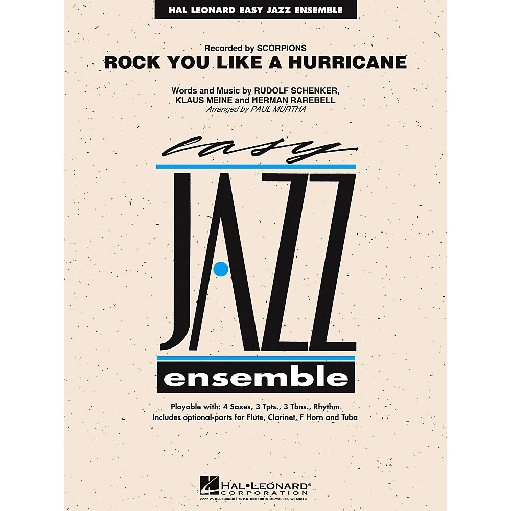 Hal Leonard Rock You Like A Hurricane Jazz Band Level 2