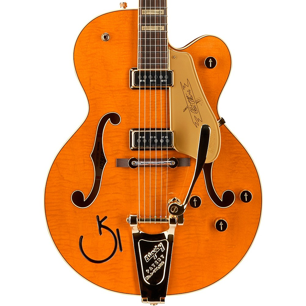 gretsch guitars g6120t nashville hollowbody electric guitar vintage orange stain ebay. Black Bedroom Furniture Sets. Home Design Ideas