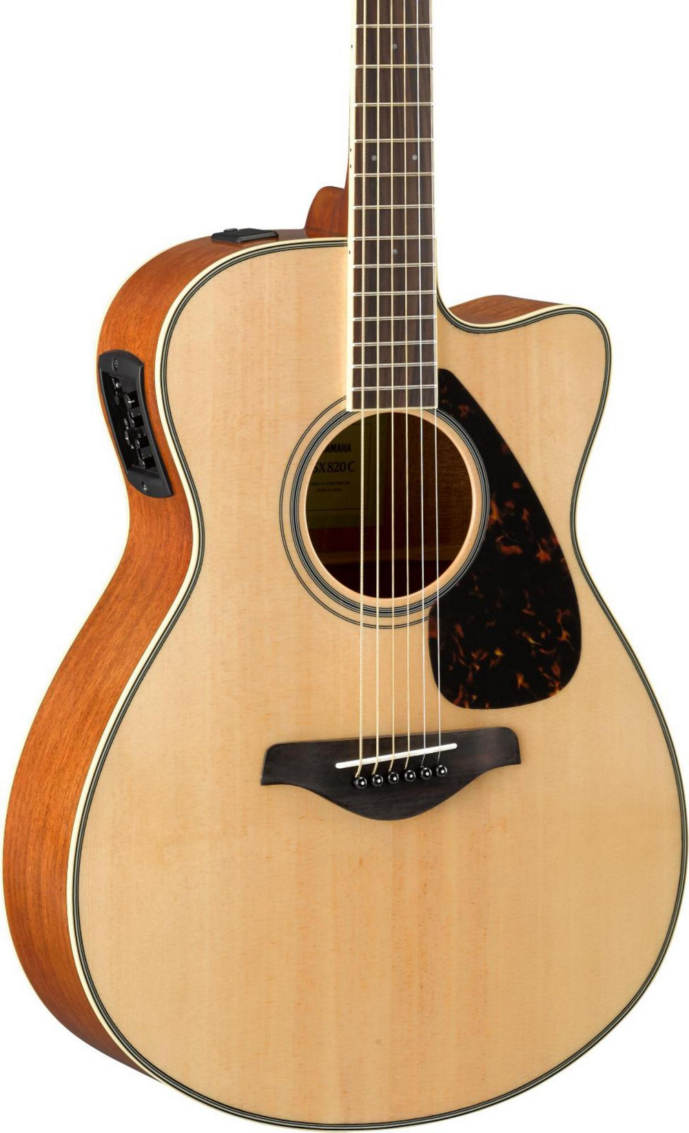 yamaha fsx820c small body acoustic electric guitar natural ebay. Black Bedroom Furniture Sets. Home Design Ideas
