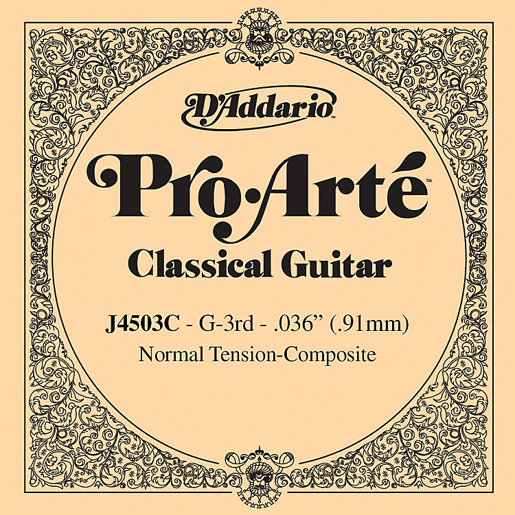 D'AddarioJ45 G-3 Pro-Arte Clear Normal Single Classical Guitar String