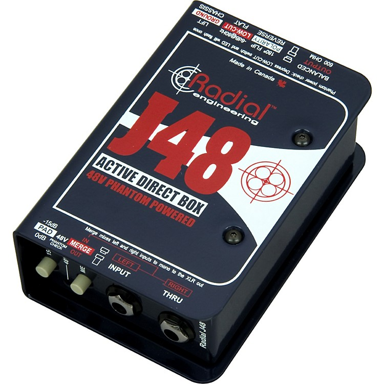 Radial Engineering J48 MK2 48V Phantom Power Active Direct Box