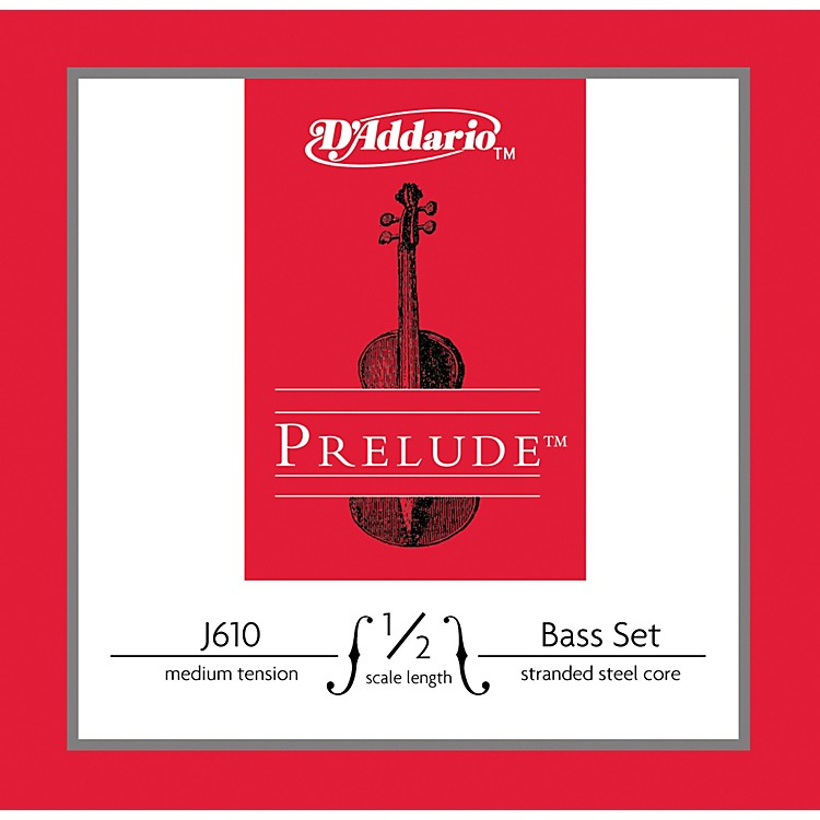 D'Addario J610 Prelude 1/2 Bass String Set Medium
